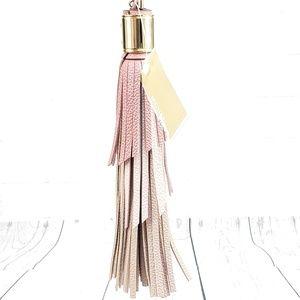 Michael Kors Pink Leather Tassel Charm